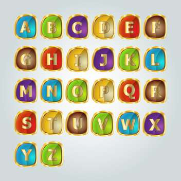 vector alphabet letters set - vector gratuit #133385