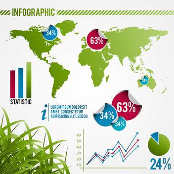 ecology infographics with elements and icons - vector #133415 gratis