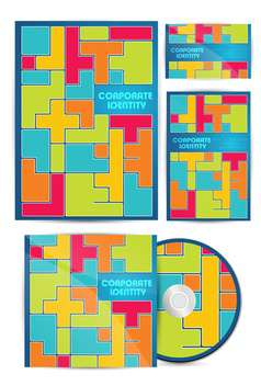 vector colorful corporate identity - vector gratuit #133495