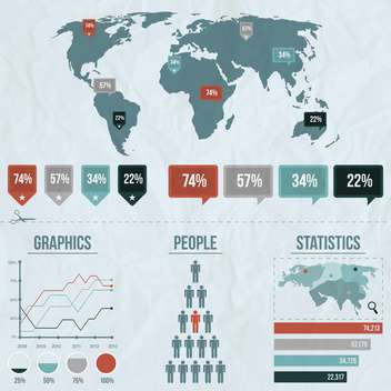 vector elements of business infographics - vector #133515 gratis