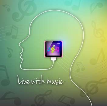 vector live with music background - vector gratuit #133555