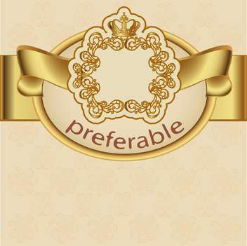 vintage preferable label frame background - Free vector #133565