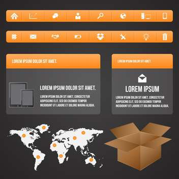 elements of business infographic set - vector #133585 gratis