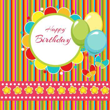 happy birthday vector background - vector gratuit #133625