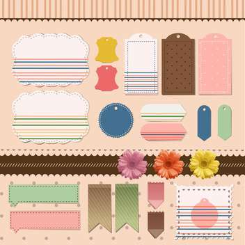 vector set sticker frames - vector gratuit #133635