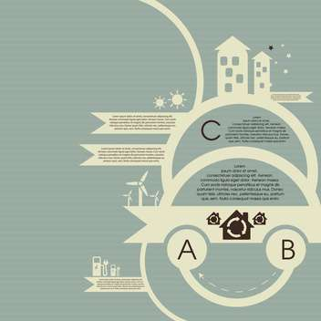 ecology infographic vector background - Kostenloses vector #133665