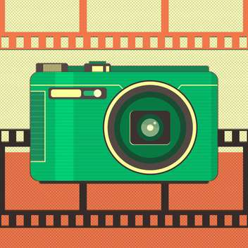 vector illustration of retro camera - vector gratuit #133685