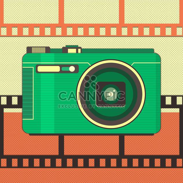 vector illustration of retro camera - Free vector #133685