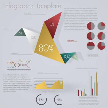 set of elements for business infographics - vector #133735 gratis