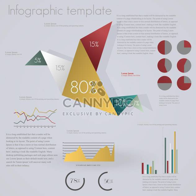 set of elements for business infographics - Free vector #133735