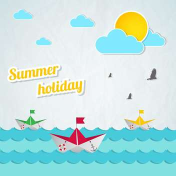 summer holidays vector background - vector #133745 gratis