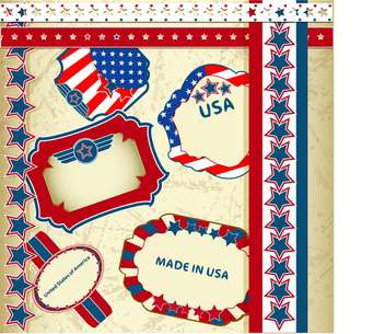 made in usa emblems background - vector #133755 gratis