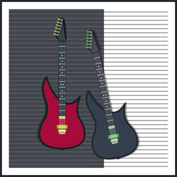 vector background with electric guitars - vector gratuit #133765