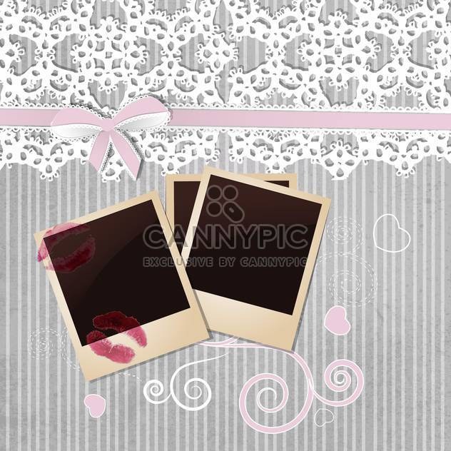 photo frame on grey background - Free vector #133805