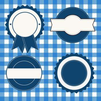 set of advertising blue and white labels - vector gratuit #133815