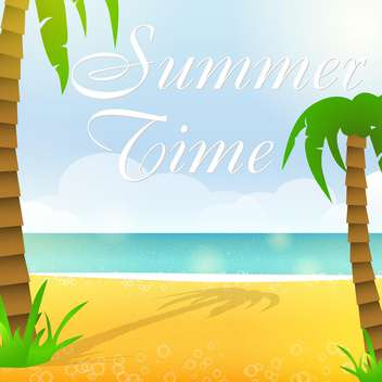vector summer time background - vector gratuit #133855