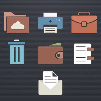 finance and business icon set - vector gratuit #133885