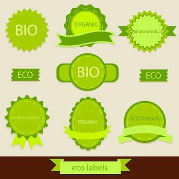 vintage bio and eco products labels - vector #133955 gratis