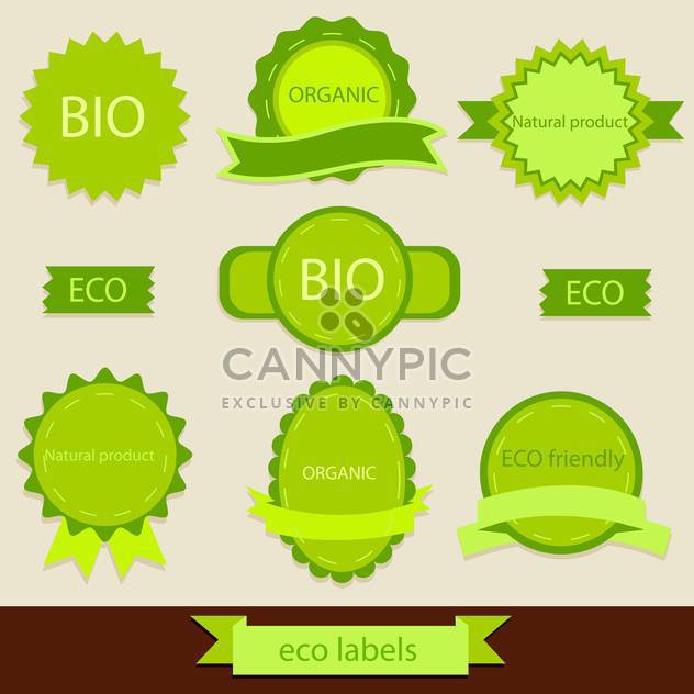 vintage bio and eco products labels - Free vector #133955