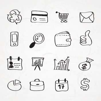 hand drawn business doodles set - vector gratuit #133995