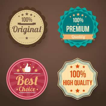 vector set of retro labels - vector gratuit #134015