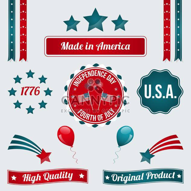vector independence day badges - Free vector #134035