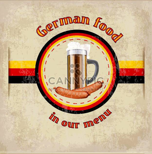 german menu vector template - vector gratuit #134075