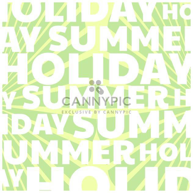 summer holiday vector background - Free vector #134095