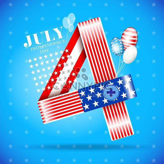 usa independence day illustration - Free vector #134155