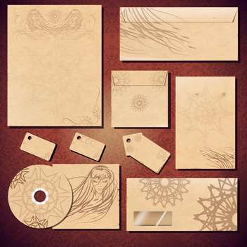 corporate identity template background - vector gratuit #134165