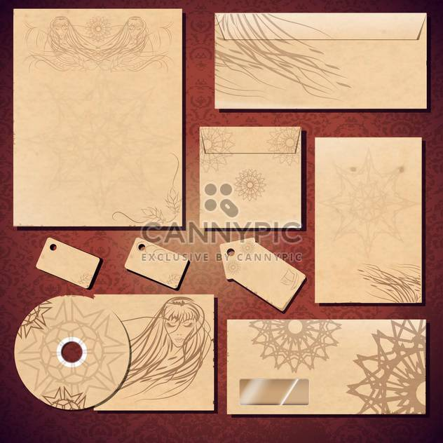 corporate identity template background - Free vector #134165