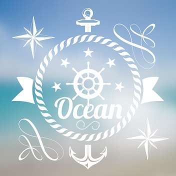 summer vacation ocean background - vector gratuit #134195