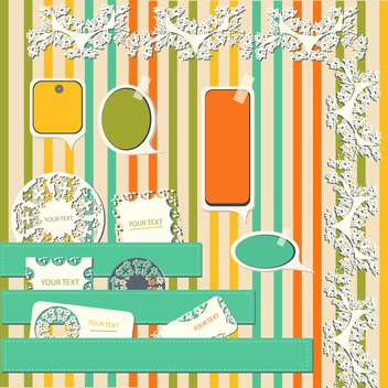 vintage design elements set - Free vector #134205