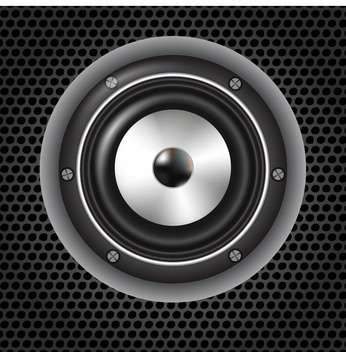 speaker on metal grid background - vector gratuit #134225
