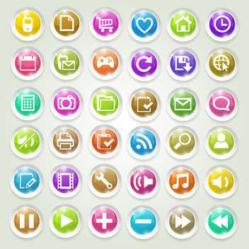 media icons vector set - vector #134245 gratis
