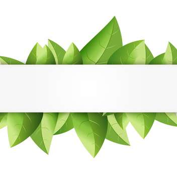 summer background with green leaves - vector gratuit #134265