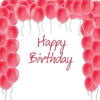 happy birthday greeting card - vector gratuit #134275
