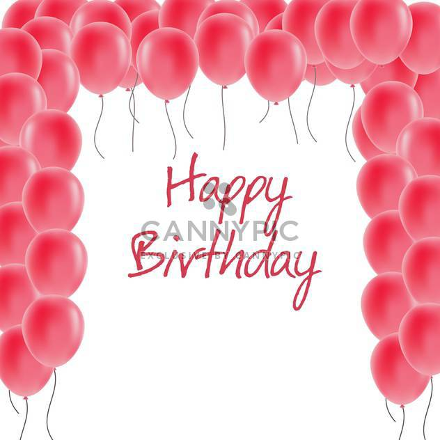 happy birthday greeting card - Free vector #134275