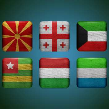 different countries vector flags set - vector gratuit #134305