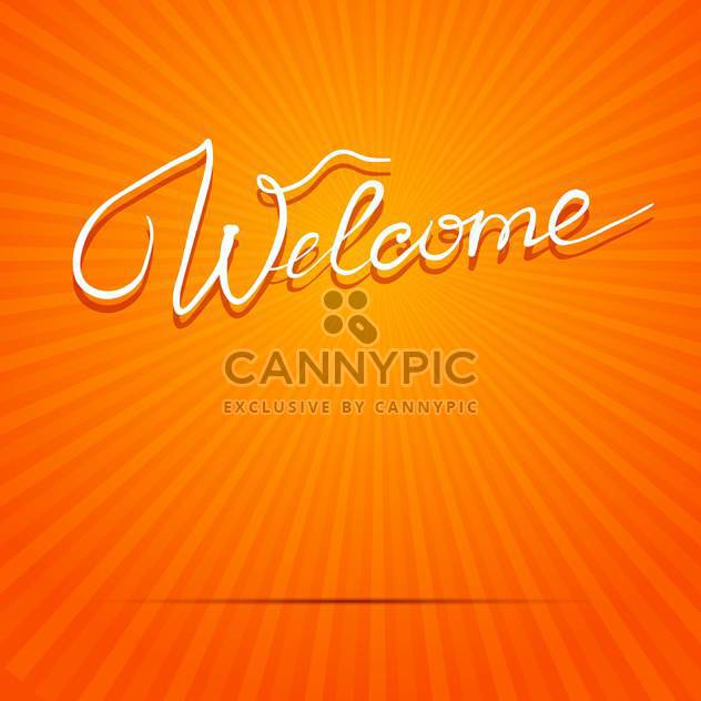 welcome inscription vector picture - Free vector #134315