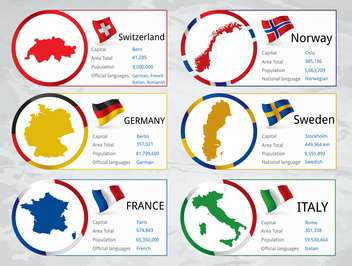 different countries flags set - vector gratuit #134325
