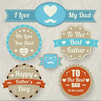 happy father's day set - vector gratuit #134375