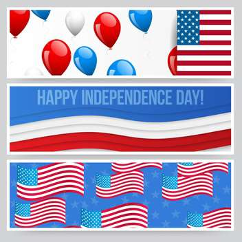 american independence day background - vector gratuit #134435