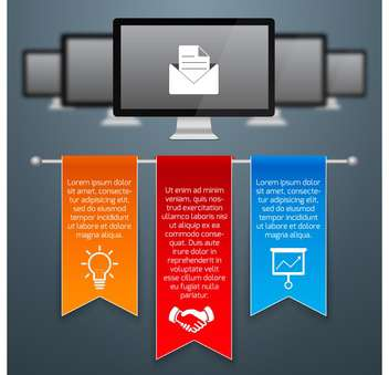 business infographic banner background - vector gratuit #134445