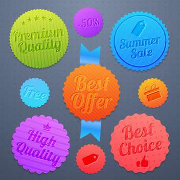 high quality sale labels and signs - vector #134455 gratis