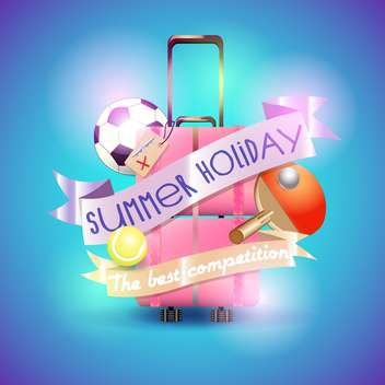 summer holiday vacation background - vector gratuit #134475
