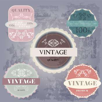 sale high quality labels and signs - vector #134485 gratis