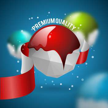 premium quality vector label - Free vector #134575
