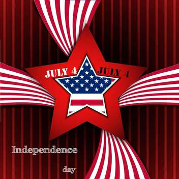 american independence day poster - vector gratuit #134635