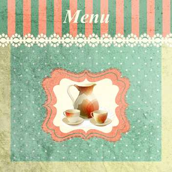 restaurant menu vintage background - vector gratuit #134665